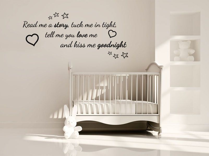Nursery Wall Quote Read Me A Story Wall Art Sticker